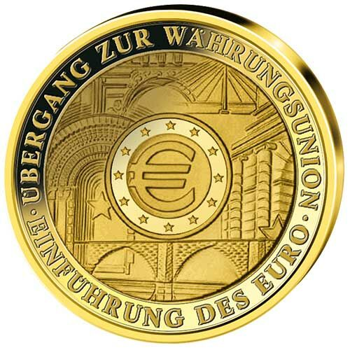 "100 Euro Goldmünze ""Währungsunion"""