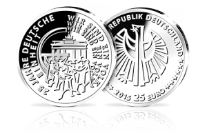 25 Euro Münze 25 Jahre Deutsche Einheit