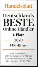 BTN Münzen ist Bester Online-Händler 2020